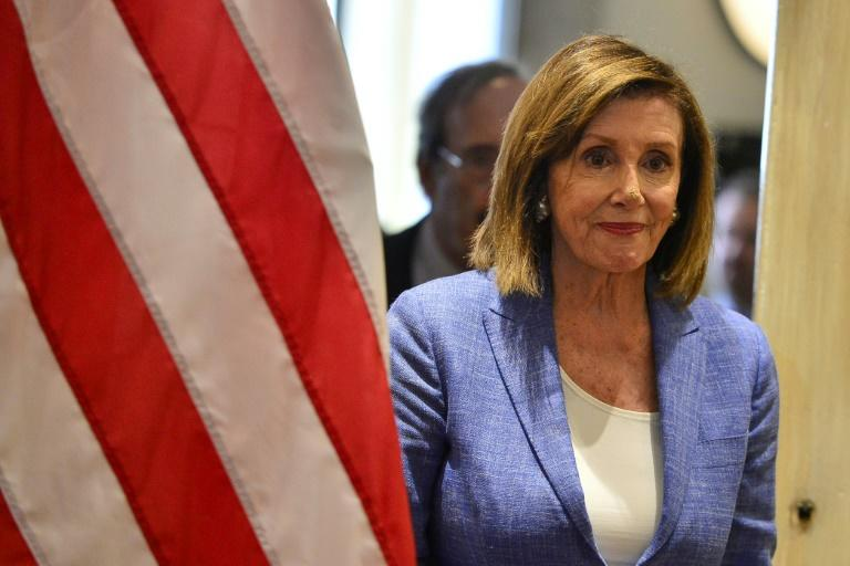US Speaker of the House Nancy Pelosi is insisting that Brexit must not jeopardize the Northern Ireland peace accord (AFP Photo/ORLANDO SIERRA)