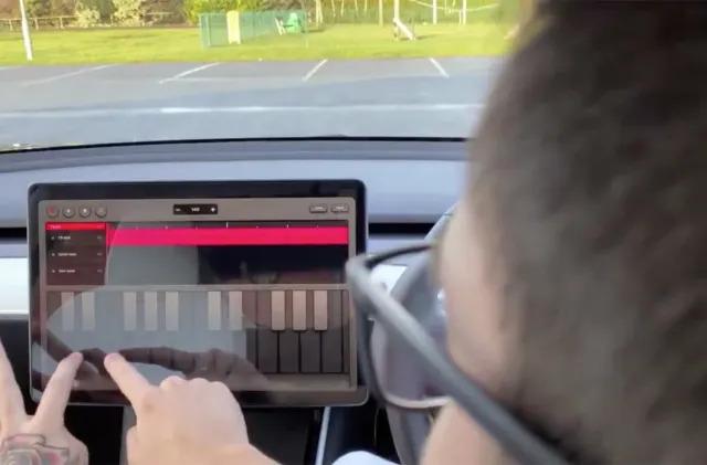 Tesla puts a music-making app in your EV