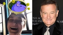 Robin Williams' Daughter Zelda Gets Aladdin's Genie in Disney Filter — See Her Sweet Reaction