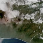 NOAA Satellites Capture Fuego Volcano Eruption