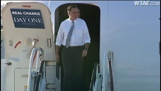 Mitt Romney campaigns in Pittsburgh on Election Day