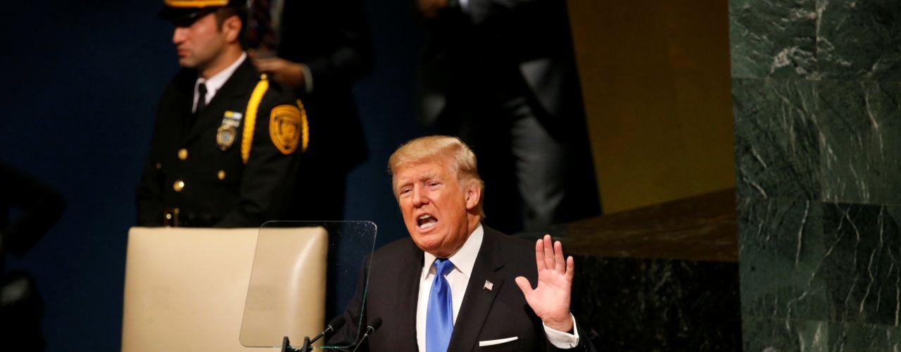 Bei UN-Vollversammlung: Trump droht Nordkorea mit totaler Zerstörung
