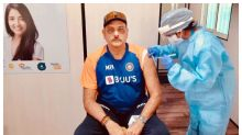 Ravi Shastri Gets First Dose of COVID-19 Vaccine, See Pic