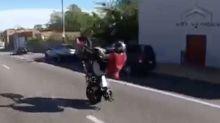Biker walks away from terrifying crash