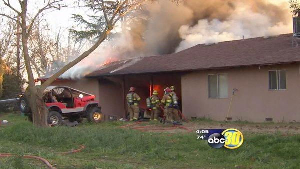Clovis house fire destroys boxed-up, move-ready home