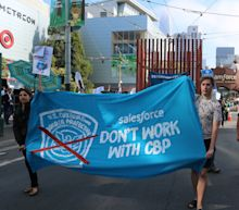 Protesters call on Salesforce to end contract with border patrol agency