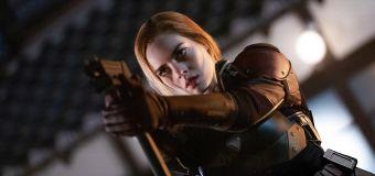 Samara Weaving's superhero transformation
