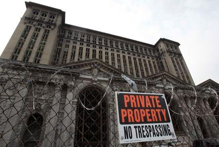FILE PHOTO: The Michigan Central Train depot sits vacant just west of downtown Detroit, Michigan