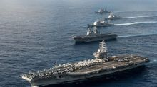 U.S. Navy moves another massive aircraft carrier close to North Korea