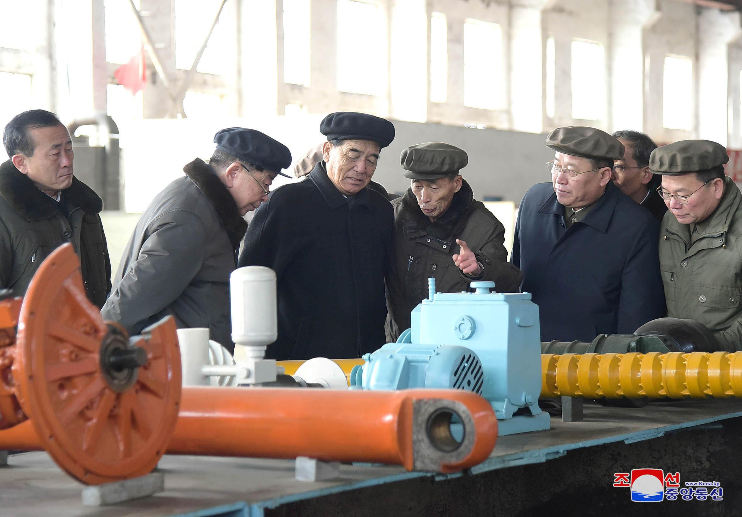 Premier of North Korea Pak Pong-ju inspects the Rakwon Machine Complex in this photo released December 13, 2018 by North Korea's Korean Central News Agency (KCNA). KCNA via REUTERS    ATTENTION EDITORS - THIS IMAGE WAS PROVIDED BY A THIRD PARTY. REUTERS IS UNABLE TO INDEPENDENTLY VERIFY THIS IMAGE. NO THIRD PARTY SALES. SOUTH KOREA OUT.