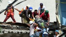 Scramble for survivors as quake flattens Mexico City buildings