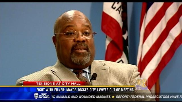Fight with Filner: Mayor tosses city lawyer out of meeting