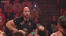 Tyson Fury 'brawls' with WWE star Braun Strowman at Monday Night Raw