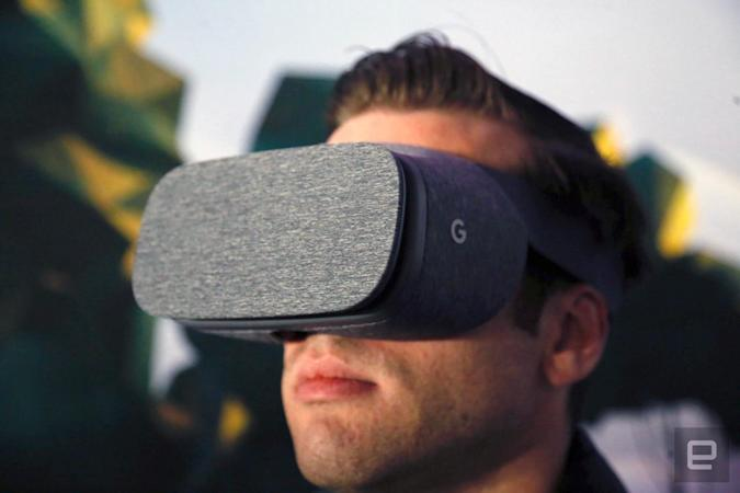 Google's Daydream VR headset for Android smartphones.