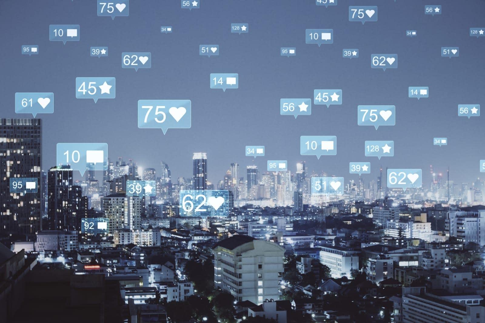 Night Bangkok social media backdrop