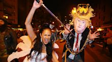 President Trump and killer clowns parade in NYC for Halloween