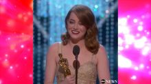 An emotional Emma Stone has a big thank you for Ryan Gosling at The Oscars