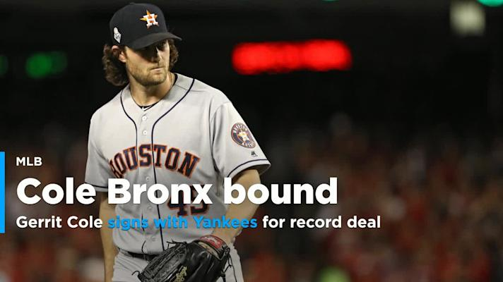 Gerrit Cole signs record deal with Yankees
