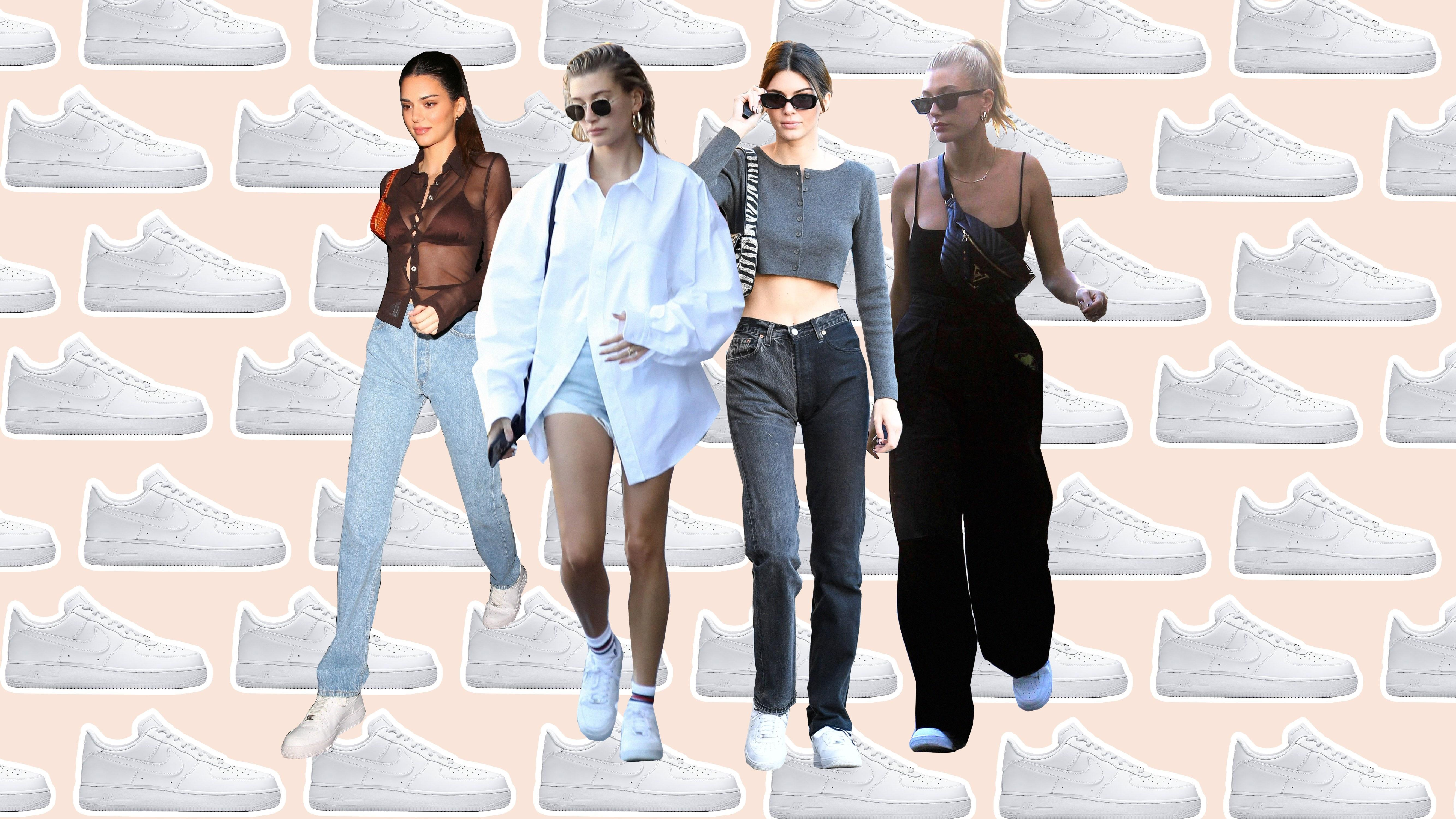 Hailey Bieber And Kendall Jenner Can T Stop Wearing Nike Air Force 1s