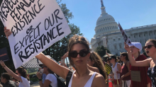 Emily Ratajkowski shamed, told to 'put on a bra' while protesting, proving Kavanaugh supporters are missing the point