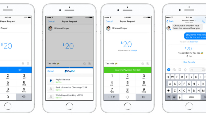 You can now send money on Facebook Messenger using PayPal