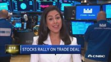 Stocks rally on trade deal
