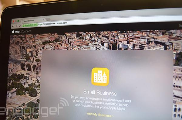 Apple Maps now lets small business owners add their own info