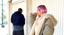 Kanye West fake-pees for paparazzi — to Kim Kardashian's amusement