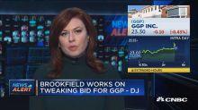 Brookfield works on tweaking bid for GGP -DJ