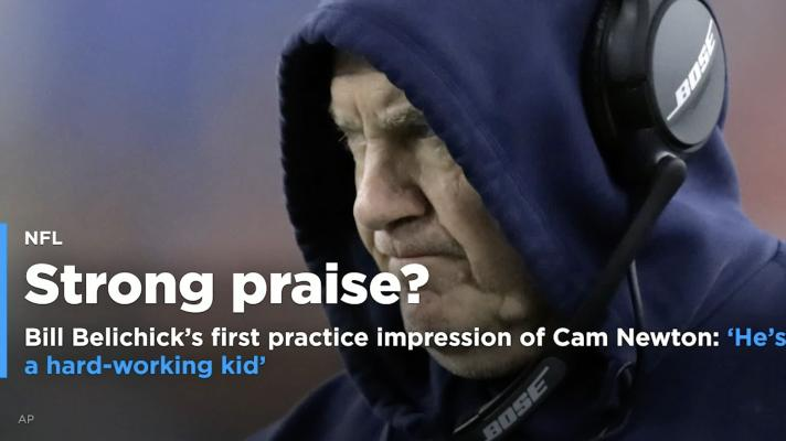 Bill Belichick praises Cam Newton: 'He's a hard-working kid'