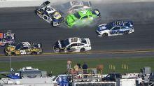Danica Patrick's final Daytona 500 ends in a wreck