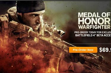 Rumor: Battlefield 4 outed by Medal of Honor: Warfighter pre-order promotion