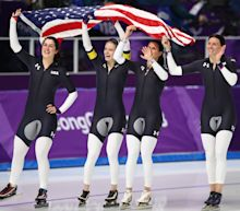 Did U.S. speed skaters essentially concede their Olympic semifinal to win bronze?