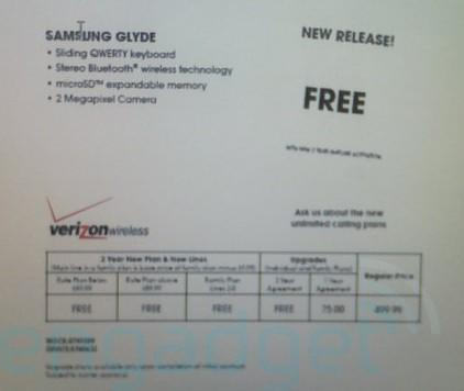 Best Buy to offer Samsung Glyde free on contract?