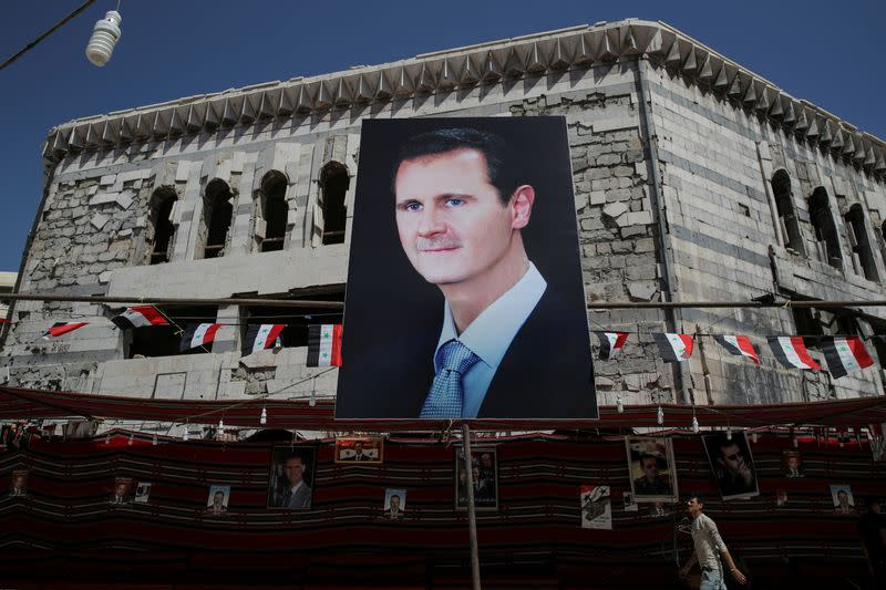 Syria's Assad halts speech due to low blood pressure