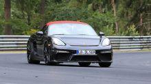 Photos espion - La Porsche 718 Boxster Spyder s'élance sur le Nürburgring