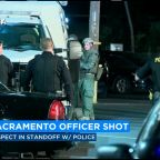 Standoff underway with suspect after Sacramento police officer shot, in serious condition