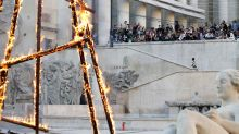 Rick Owens's Spring 2019 Show, Like The World, Was Literally on Fire