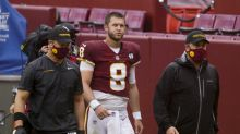 Kyle Allen knocked out on vicious hit, but Alex Smith stays in after Allen cleared to return