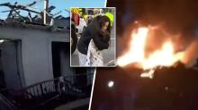 Teenage girl jumps from balcony to escape house fire