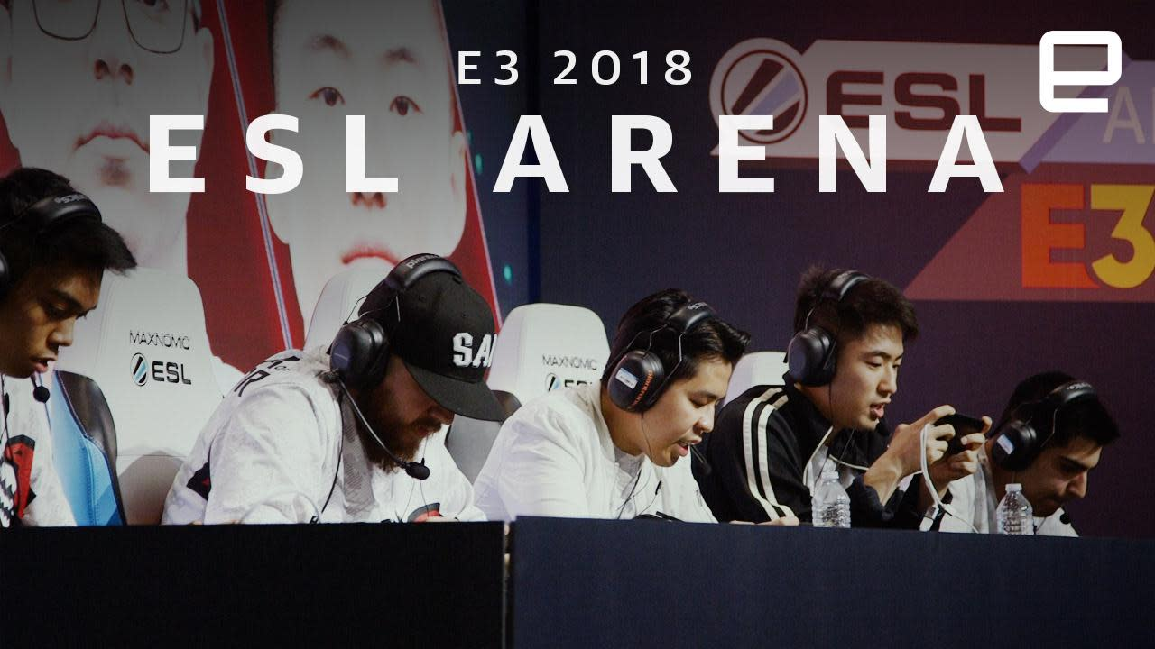 The esports arena at E3 2018 puts mobile gaming center-stage image