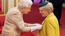 Queen Wears Gloves At Buckingham Palace Amid Coronavirus Outbreak