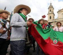 Indigenous Colombians rally in Bogotá over killings