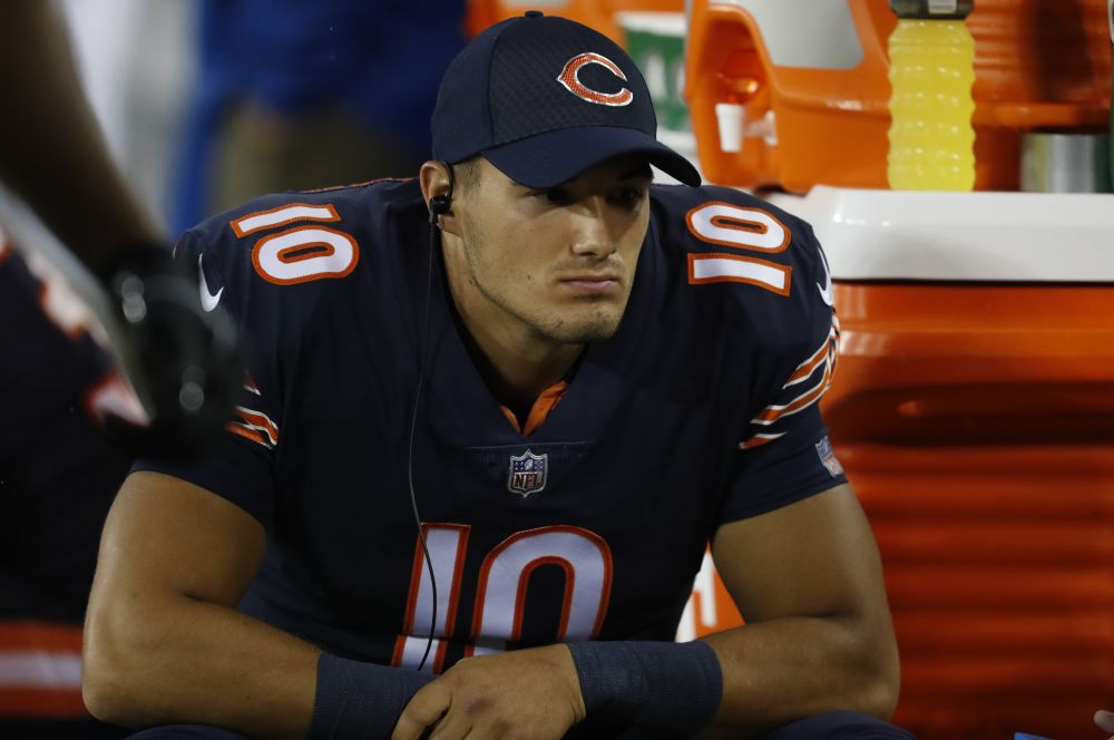 Chicago Bears' Mitch Trubisky will get his first career start in Week 5. (AP)