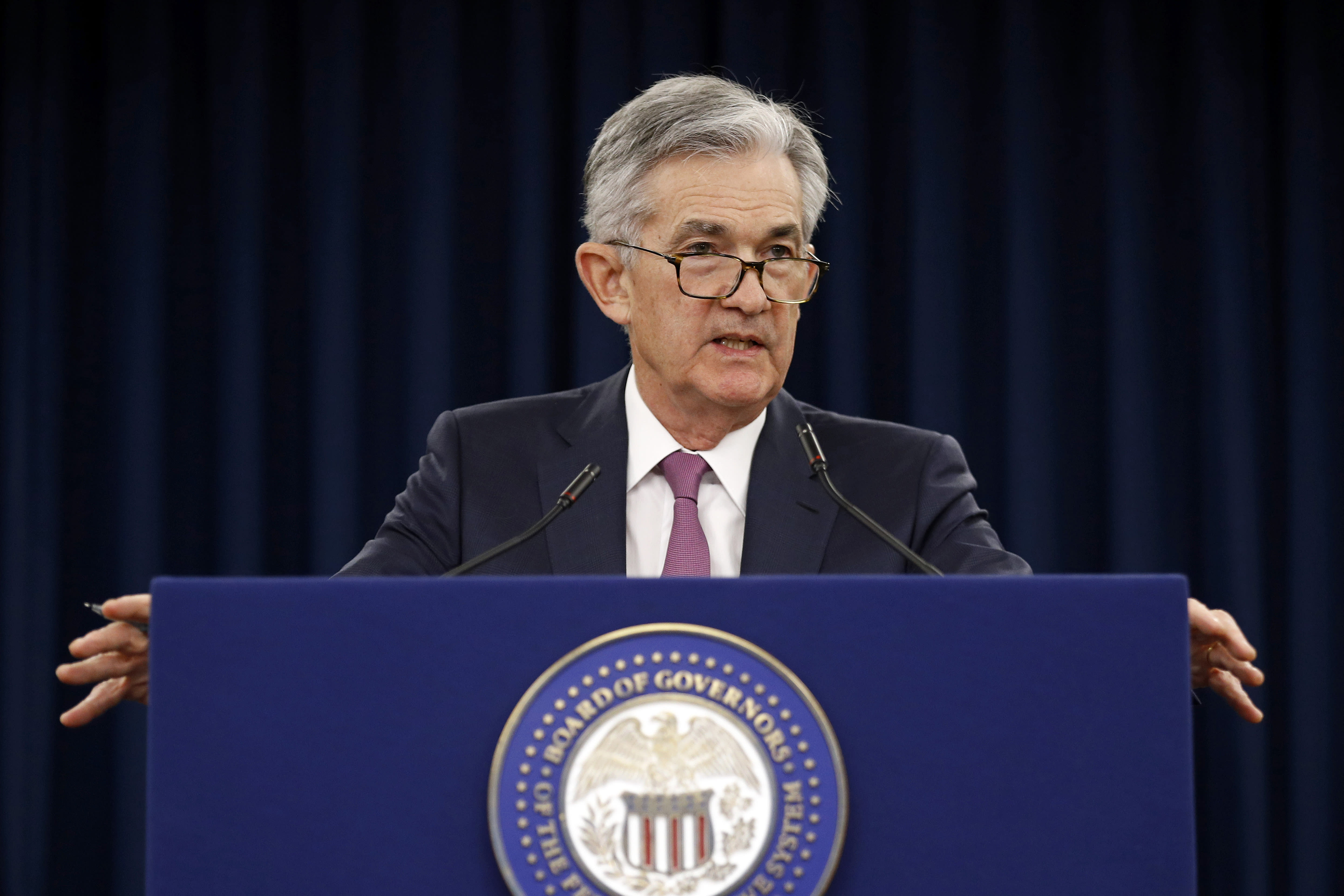Fed Chair Jerome Powell warns of rising business debt