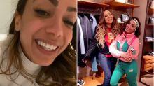 """Anitta conhece Mariah Carey nas férias em Aspen: """"Chorei baldes"""""""