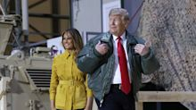 PHOTOS: Trump and first lady Melania make a surprise visit to U.S. troops in Iraq