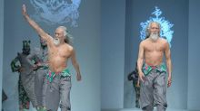 China's hottest runway model is an 80-year-old grandpa with great abs