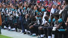Donald Trump says NFL anthem protests have 'nothing to do with race' as fresh demonstrations follow Wembley stunt