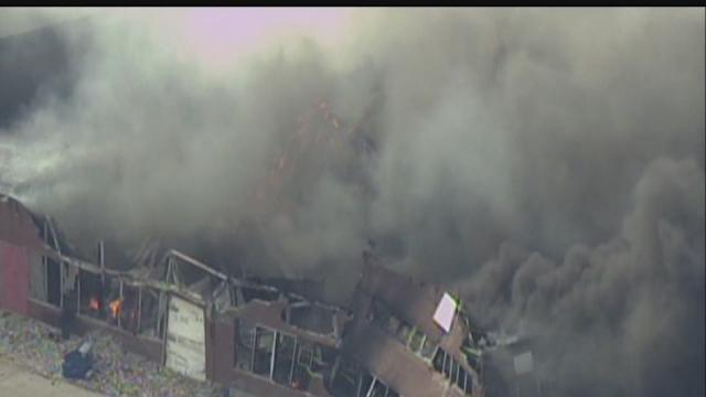Large Indianapolis warehouse fire under control
